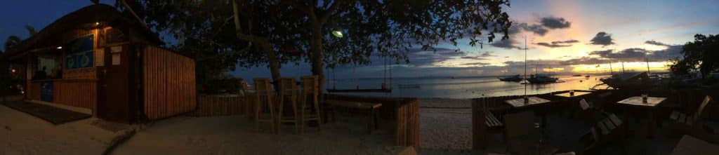 panorama sunset alona beach panglao bohol philippines