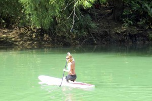 Loboc river paddle board Bohol Philippines